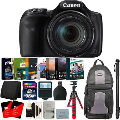 "Canon PowerShot SX540 HS Digital Camera + 62"" Monopod and Accessory Kit"