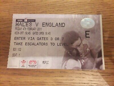 2011-Wales V England-Six-6 Nations Champions-International-Rugby Union Ticket