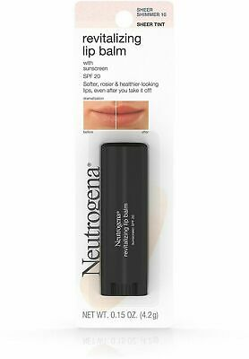 Neutrogena Revitalizing Lip Balm Pick 10 Sheer Shimmer 40 Petal Glow  Fresh Plum