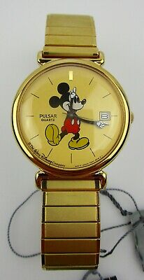 Disney Mickey Mouse Wrist Watch Pulsar MIB Tags NOS Battery Mint Booklet Box