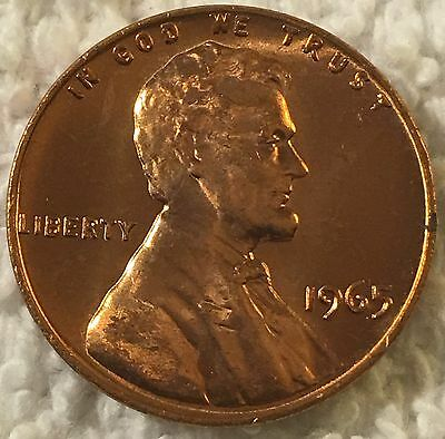 1965 -Sms Lincoln Cent Pulled From Old Safe Collection Wow Look