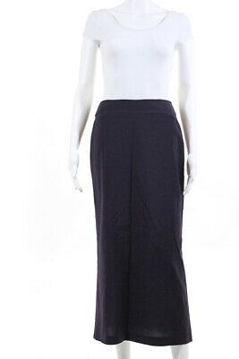 d045003de2 Tracy Reese Womens Midi Length Pencil Skirt Purple Wool Zip Up Size 2