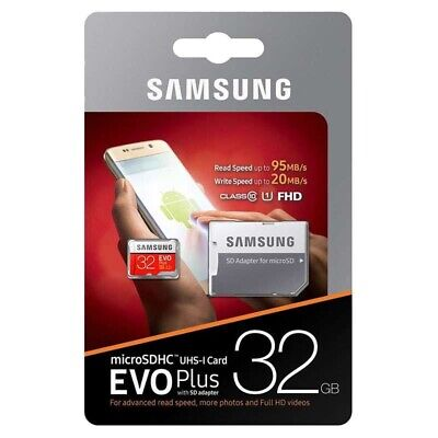 Samsung 32GB Micro SD Card SDHC 95MB/s UHS-I Class 10 TF Memory Card HD 100%