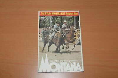 Vintage Road Map -- Montana 1977
