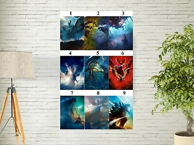 """Godzilla King of the Monsters Poster Movie 2019 Film Textless Art Print 27x40"""""""
