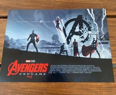 "AVENGERS ENDGAME WEEK 2 POSTER AMC IMAX MINI POSTER 11"" x 15.5 "" NEW Very RARE"