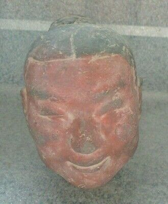 rare antique Chinese pottery soldier head fragment