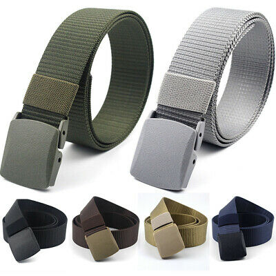2019 Men Durable Nylon Outdoor Sport Military Tactical Waistband Canvas Web Belt
