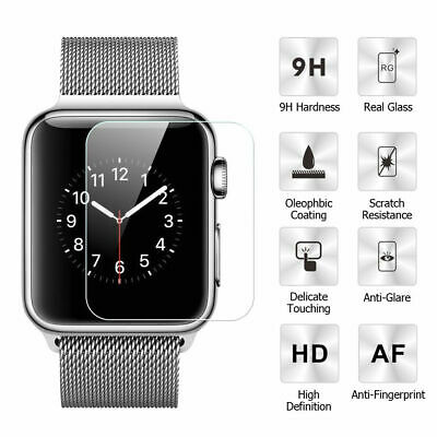 For Apple Watch Series 4 3 2 1 38/42/40/44mm TEMPERED GLASS Screen Protector Ya