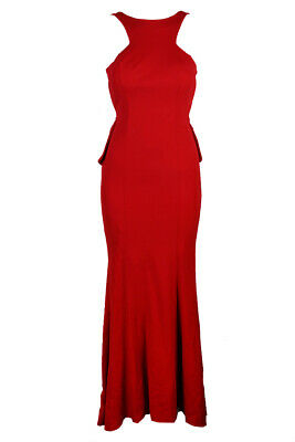 ad2fe4b18486 Xscape Red Open-Back Ruffle-Detail Gown 4 MSRP: $269