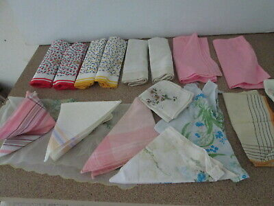 Bulk lot Handkerchiefs Hankies Some Vintage Use or for Craft