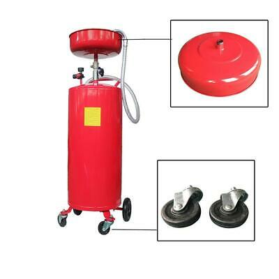 Waste Oil Drain Tank 20 Gallon Portable Air Operated Drainer Oil Change Transfer