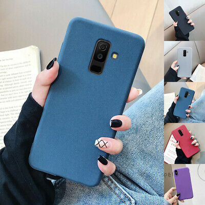 For Samsung J2 Core J4 J6 Plus 2018 J3 J5 J7 Sandstone Silicone TPU Case Cover