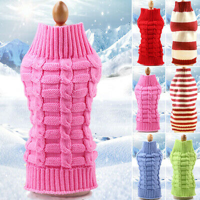1xPet Dog Cat Knitted Jumper Autumn Winter Warm Sweater Puppy Coat Clothes XS~XL
