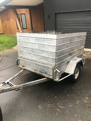 6x4 trailer with high sides