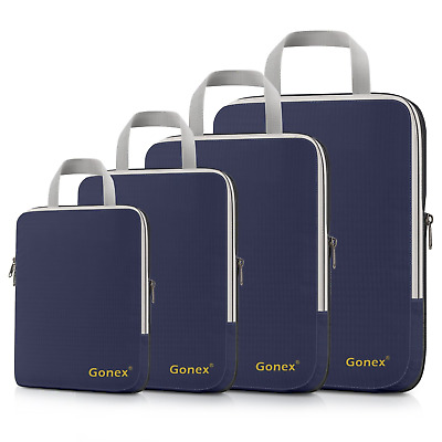 Gonex Compression Packing Cubes Extensible Organizer Bags for Travel Suitcase of