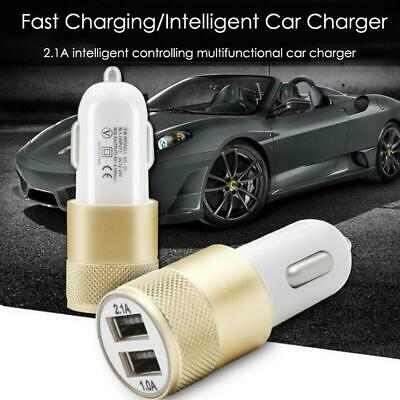 Dual USB Car Charger 2 Port Adapter For Smart Mobile Cell Phone Universal RT *