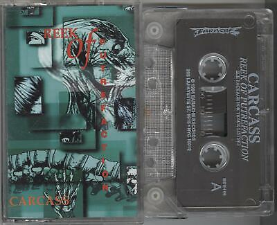 Carcass - Reek Of Putrefaction RARE CLEAR TAPE 1994 Earache Exhumed Impaled
