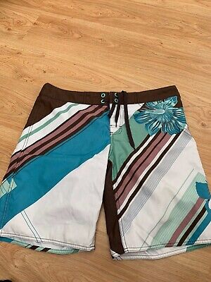 d3bc687a57 Mens O'Neill Surf Board Swim Shorts Size 34 waist Multicolour Floral design  99p
