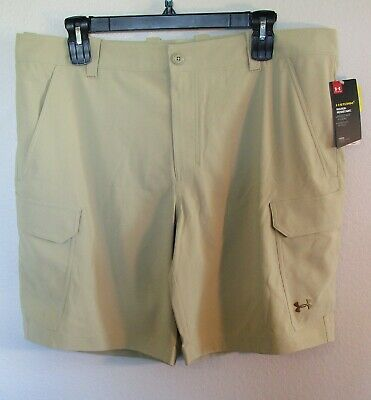 NWT UNDER ARMOUR 1244207 232 MENS FISH HUNTER TAN SELECT SIZE $65