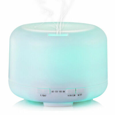 500ML 7 LED Humidifier Air Aroma Essential Oil Diffuser Aromatherapy Atomizer