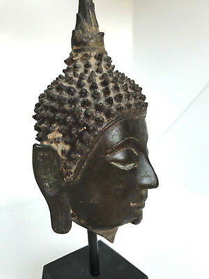 16/17th Century A.D. THAI FRAGMENT OF A BUDDHA HEAD AYUTTHAYA PERIOD  NICE