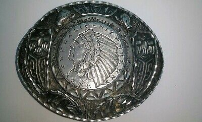 1992 hard to find Vintage  Liberty Chief Ege 92 Belt Buckle Made in U.S.A.