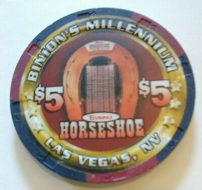 2000 Horseshoe Casino Las Vegas, Nevada $5.00 Chip Great For Any Collection!