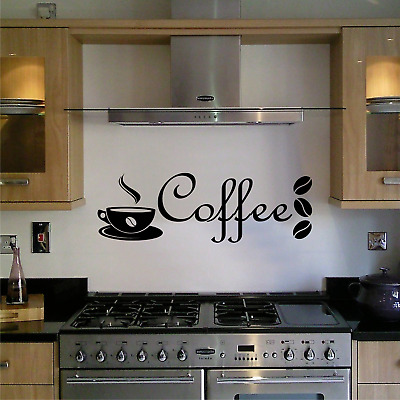 Wall Art Sticker Kitchen Quote Coffee Decal Family Dining Home Decor Text