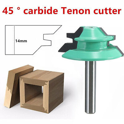 """1/4"""" Shank Lock Miter 45 Degree Glue Joint Router Bits Cutter Milling Supply LD"""
