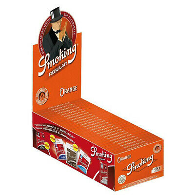 SMOKING Red Single Wide Rolling Papers Full Box (50 Booklets / 3000 Leaves)