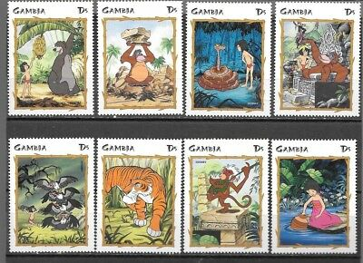 Gambia - Disney 1999 - Jungle Book - MNH Set