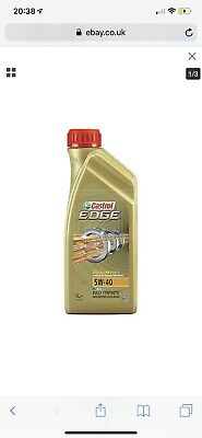 Castrol EDGE TITANIUM 5W-40 FST Fully Synthetic Engine Oil 5W40 1 Litre 1L