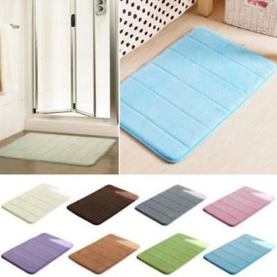Soft Anti-slip Absorbent Bathroom Carpet Multicolor Durable Shaggy Floor Mat LD