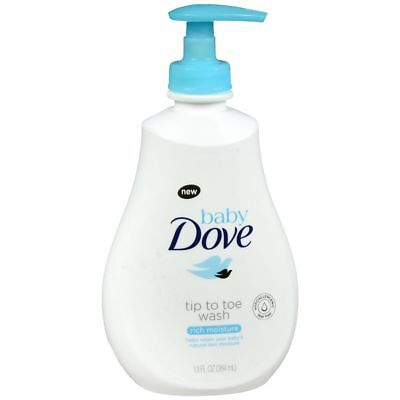 Baby Dove Tip To Toe Wash Rich Moisture - 13 OZ (2 Packs)