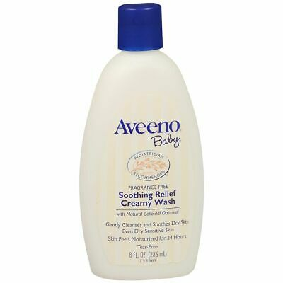 AVEENO Baby Soothing Relief Creamy Wash - 8 OZ (2 Packs)