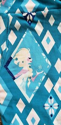 New LuLaRoe Tween Leggings - Disney Frozen Princess Elsa Blue Diamond Snowflake