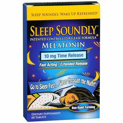 Sleep Soundly Melatonina 10 MG Tempo di Rilascio Compresse - 60 TB (3