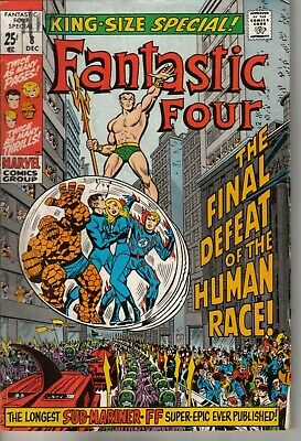 Fantastic Four Annual #8 Marvel Comics Bronze age 1970 All Jack Kirby Reprints!