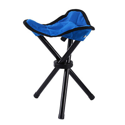 Outdoor Portable Folding Camping Chairs Triangle Stool Fishing Lightweight LD
