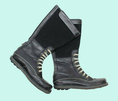 818be5d2c GUCCI Combat Boots Leather Lace Up Flat Italy Women's Sz 7.5 B RARE  Authentic.
