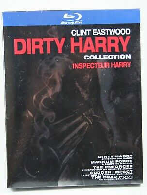 The Dirty Harry Collection Bluray 5 films BRAND NEW Clint Eastwood Slipcase