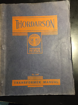 1940 Thordarson Electric Transformer Parts Catalog Book Brochure Manual