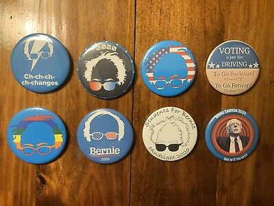 Bernie Sanders 2020 Presidential Campaign Buttons - Lot of 8 - 2.25 inch