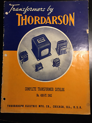 Vintage 1942 Thordarson Transformers Catalog 400-F & Price List