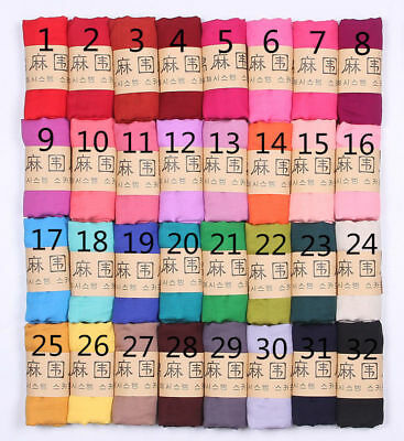 Long women's candy colors soft cotton Scarf Wrap Shawl scarves fashion stole