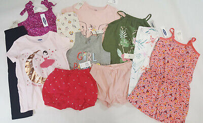 e2f3d112e NWT Baby Gap & Old Navy Girls Size 4 4t Clothes Lot Tops Shorts Leggings  Romper