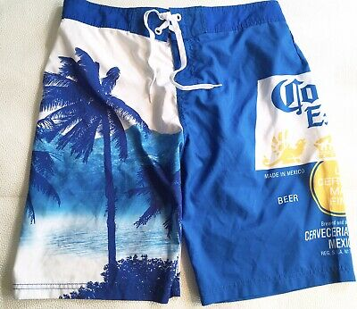 223e9bfb3f Corona Extra Board Shorts Size Large 34 Label Palm Trees Multicolor Swim  Trunks