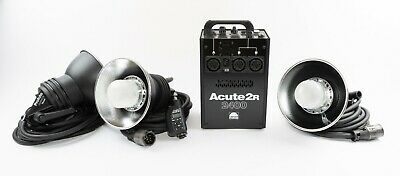 Profoto Acute2R 2400 + 3 Heads - nearly new (incl. case)