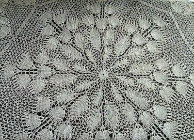 Crochet round tablecloth, Large doily, Lace linen table cover, Country style